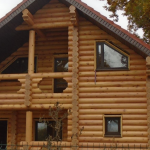 Строительство срубов, деревянных домов из оцилиндрованного бревна